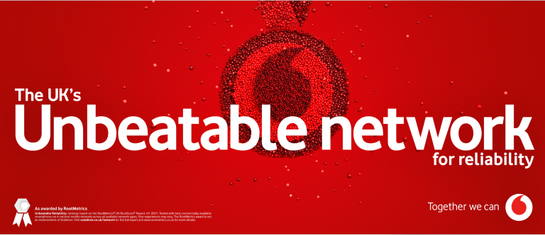 The UK's unbetable network for reliability banner