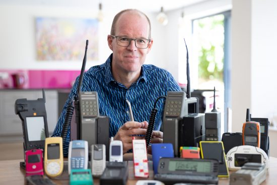 illustrative photo of Ben Wood, co-founder of the Mobile Phone Museum