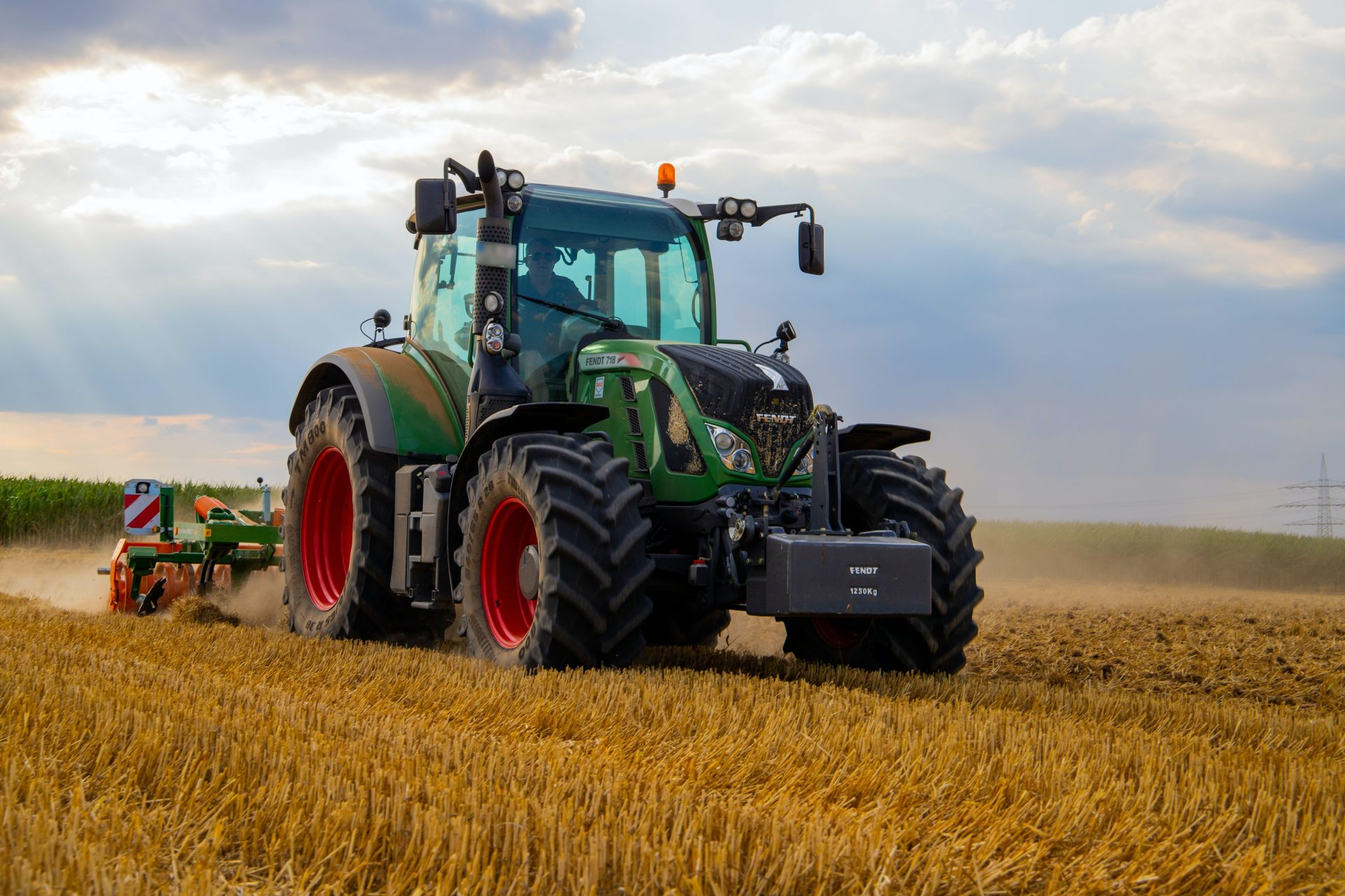 Giant agricultural tractor