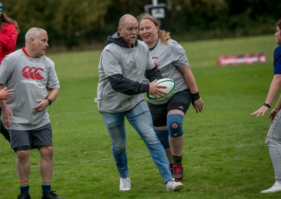 illustrative photo of Mike Tindall playing walking rugby