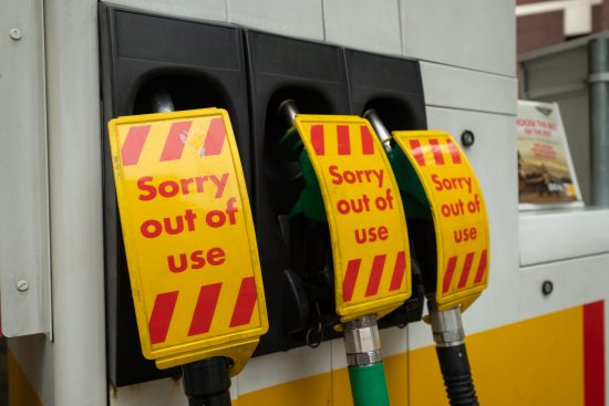 'Sorry out of use' fuel pumps